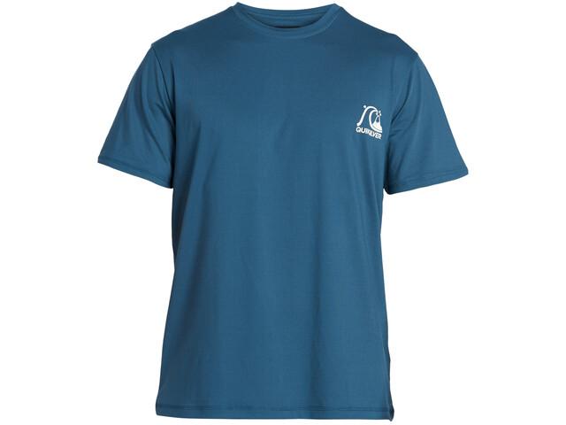Quiksilver Heritage Camiseta Surf Manga Corta Hombre, majolica blue